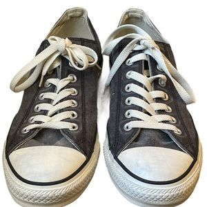 CONVERSE ALL STAR GRAY CANVAS LOW TOP SHOES MEN 10